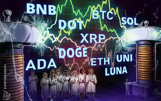Price analysis 10/13: BTC, ETH, BNB, ADA, XRP, SOL, DOGE, DOT, LUNA, UNI